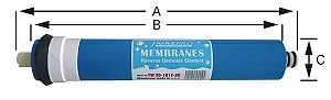 Filmtech RO polprepustna membrana TCF 50 GPD 0,0001 mcr, TW 30-1812-50