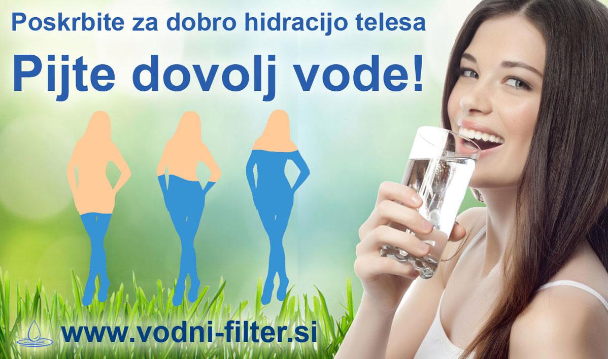 Zadostna hidracija je ključna za dobro zdravje